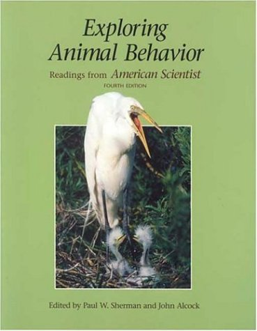 Exploring Animal Behavior Readings from American Scientist 4th 2005 edition cover