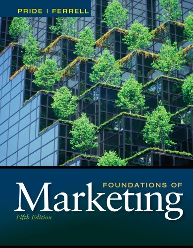 Foundations of Marketing  5th 2013 edition cover