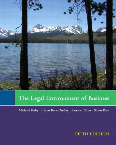 Legal Environment of Business  5th 2011 edition cover