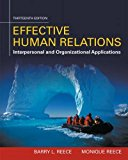 Effective Human Relations: Interpersonal and Organizational Applications  2016 9781305576162 Front Cover