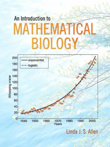 Introduction to Mathematical Biology   2007 edition cover
