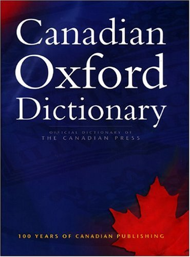 Canadian Oxford Dictionary  2nd 2004 (Revised) edition cover