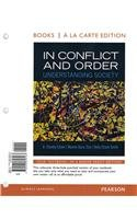 In Conflict and Order Understanding Society, Books a la Carte Edition 13th 2013 edition cover