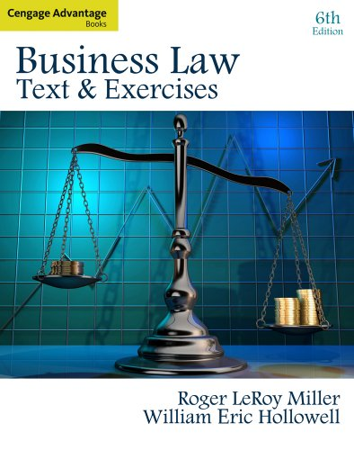 Business Law Text and Exercises 6th 2011 edition cover