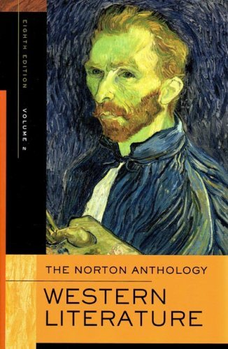 Norton Anthology of Western Literature  8th 2005 edition cover