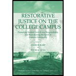 Restorative Justice on the College Campus Promoting Student Growth and Responsibility, and Reawakening the Spirit of Campus Community  2004 edition cover