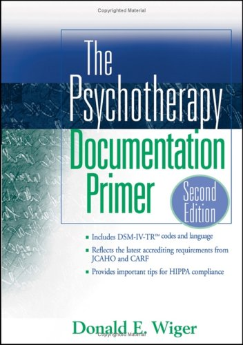 Psychotherapy Documentation Primer  2nd 2005 (Revised) edition cover