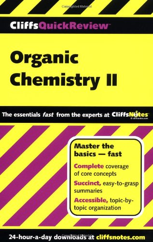 CliffsQuickReview Organic Chemistry II   2000 edition cover