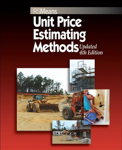 Unit Price Estimating Methods  4th 2007 edition cover
