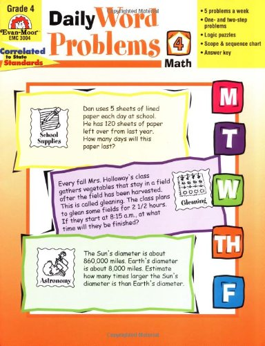 Daily Word Problems, Grade 4  N/A edition cover