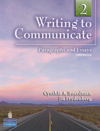 Writing to Communicate Paragraphs and Essays 3rd 2010 edition cover