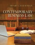 Contemporary Business Law  8th 2015 edition cover