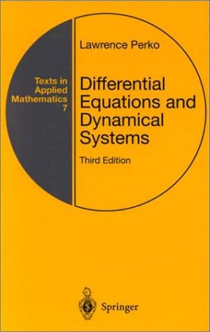 Differential Equations and Dynamical Systems  3rd 2001 (Revised) edition cover