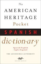 American Heritage Pocket Spanish Dictionary Spanish/English - English/Spanish  2001 edition cover