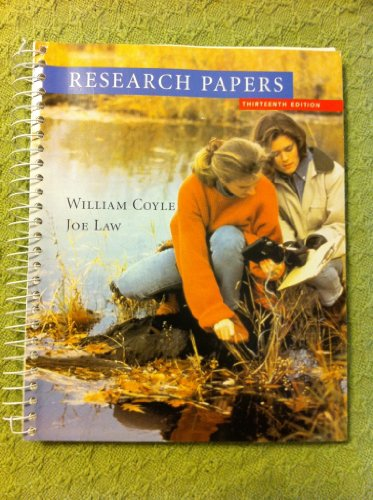 Coyle Research Papers Thirteenth Edition  13th 2005 9780618918164 Front Cover