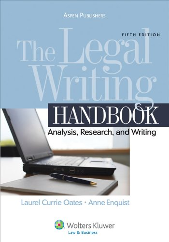 Legal Writing Analysis Research and Writing 5th 2010 (Revised) 9780735585164 Front Cover