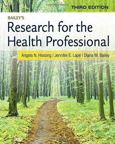 Research for the Health Professional:   2014 edition cover