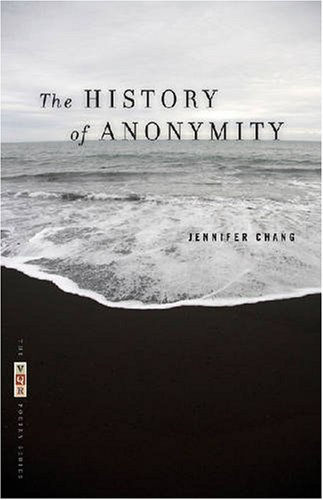 History of Anonymity   2008 9780820331164 Front Cover