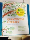 Loose-Leaf Version for Quantitative Literacy Thinking Between the Lines 2nd edition cover