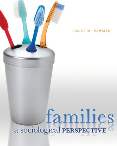 Families A Sociological Perspective  2009 edition cover