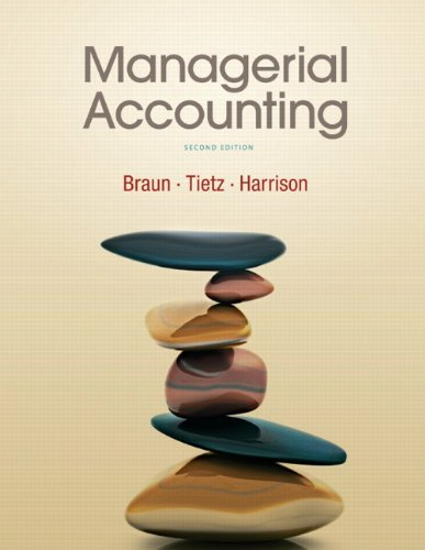 Managerial Accounting  2nd 2010 edition cover