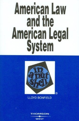 American Law and the American Legal System in a Nutshell   2006 edition cover