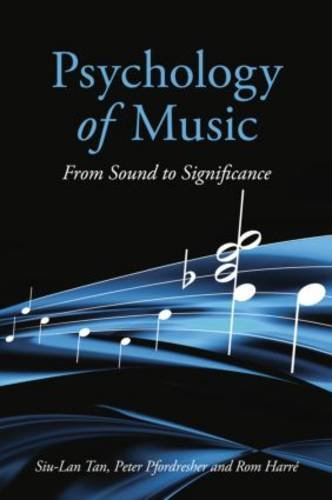 Psychology of Music From Sound to Significance  2010 edition cover