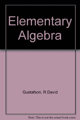 Elementary Algebra  3rd 2005 9780534419165 Front Cover