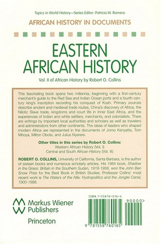 African History in Documents - Text and Readings Eastern Africa N/A edition cover