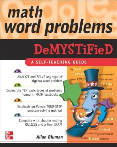 Math Word Problems Demystified   2004 edition cover