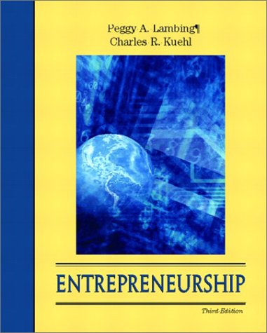 Entrepreneurship  3rd 2003 edition cover