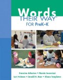 Words Their Way for Prek-K   2015 edition cover