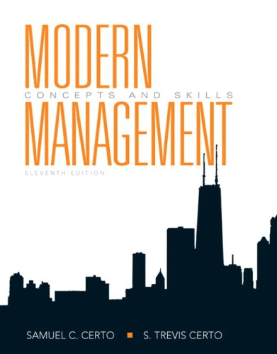 Modern Management Concepts and Skills 11th 2009 edition cover