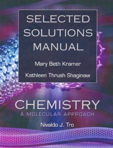 Selected Solutions Manual for Chemistry: A Molecular Approach  2007 edition cover