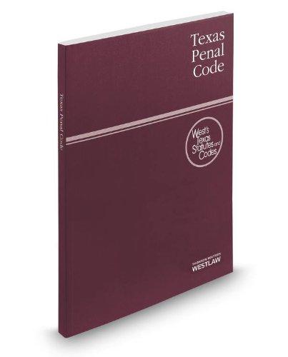 Texas Penal Code 2014:   2013 edition cover