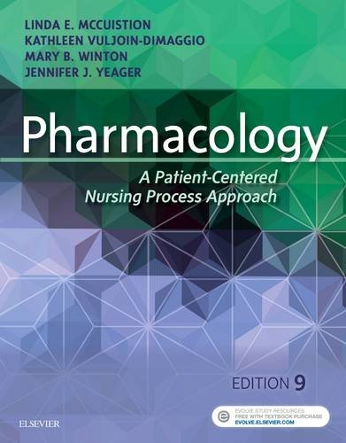 Pharmacology A Patient-Centered Nursing Process Approach 9th 2018 9780323399166 Front Cover