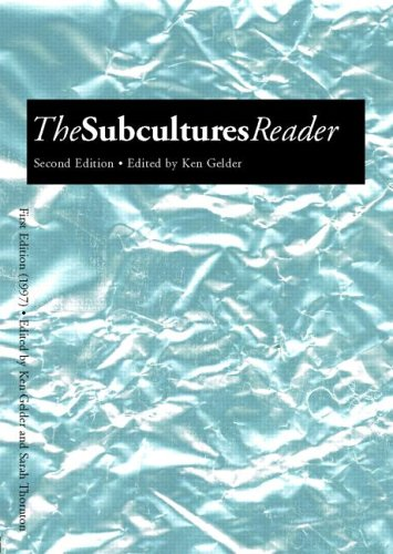 Subcultures Reader  2nd 2005 (Revised) edition cover