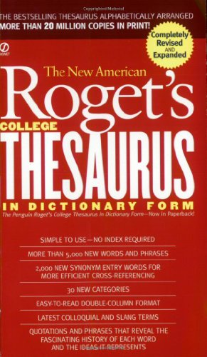 New American Roget's College Thesaurus in Dictionary Form   2002 (Revised) edition cover