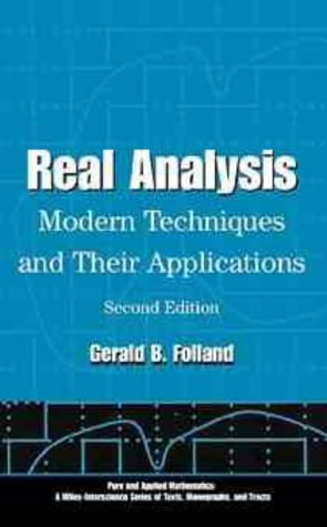 Real Analysis Modern Techniques and Their Applications 2nd 1999 (Revised) edition cover