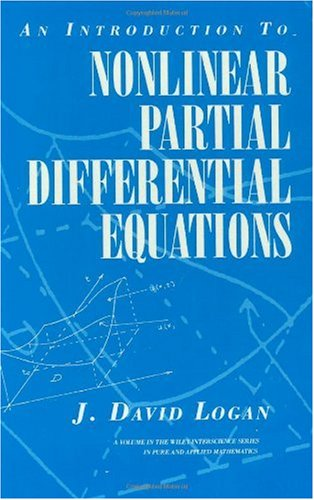 Introduction to Nonlinear Partial Differential Equations   1994 9780471599166 Front Cover