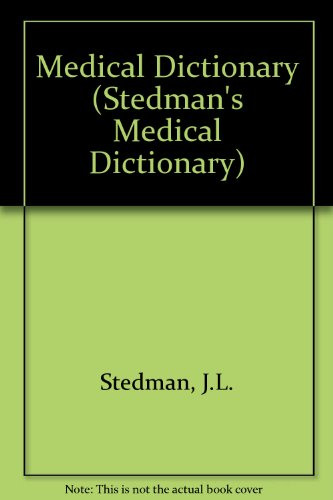 Stedman's Medical Dictionary, 1995 5th 1990 (Revised) 9780683079166 Front Cover