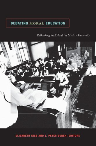 Debating Moral Education Rethinking the Role of the Modern University  2009 edition cover