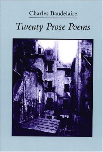 Twenty Prose Poems  Revised edition cover