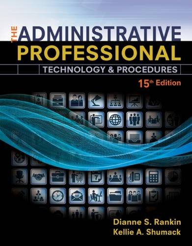 The Administrative Professional: Technology & Procedures  2016 9781305581166 Front Cover