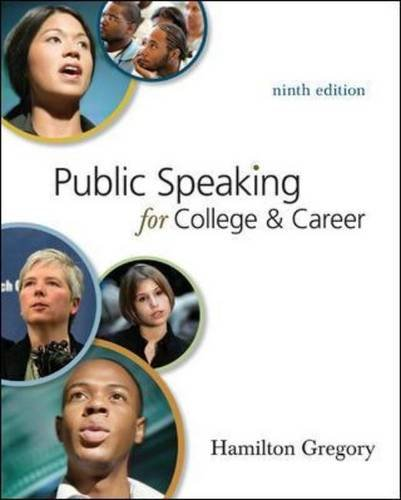 Public Speaking for College and Career  9th 2010 edition cover