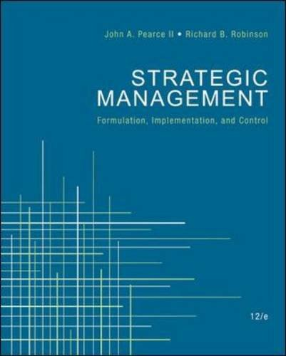 Strategic Management  12th 2011 edition cover