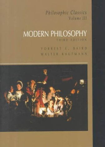Modern Philosophy  3rd 2000 edition cover