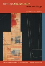 WRITING ANALYTICALLY W/READ. > 1st edition cover