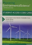 Environmental Science Masteringenvironmentalscience With Pearson Etext - Standalone Access Card: Toward a Sustainable Future  2013 edition cover