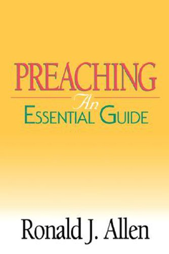Preaching An Essential Guide  2002 edition cover